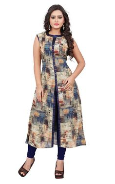 Experience the best of east-meets-west & north-meets-south with these party wear Kurtis with us. Latest Kurti Designs help you stick to your Indian fashion styling sense while staying modern at the same time. Salwar Designs, Printed Kurti Designs, Simple Kurti Designs, Kurta Designs Women, Kurti Designs Party Wear, Kurti Neck Designs, Dress Neck Designs, Blouse Designs, Latest Kurti Designs