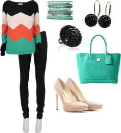Chevron and a little color for the fall