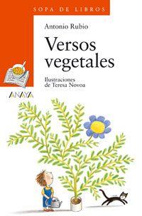 """Portada de """"Versos vegetales"""" de Antonio Rubio, ilustraciones de Teresa Novoa. Editorial Anaya"""
