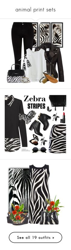 """""""animal print sets"""" by countrycousin ❤ liked on Polyvore featuring Trowbridge, River Island, Chicwish, Natures Jewelry, Lollipops, XOXO, CÉLINE, Sena, NARS Cosmetics and Chanel"""