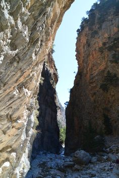 Ever walked the whole way through the Samaria Gorge? Wel, I did, and damn it was pretty tough! Pretty, but tough! Nature was stunning. Crete Greece, Santorini Greece, Hiking Photography, Pretty Tough, Greek Islands, National Parks, Wanderlust, World, Places