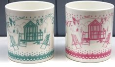 Vintage Seaside inspired mugs from Bouf
