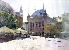 Watercolors by Grzegorz Wróbel