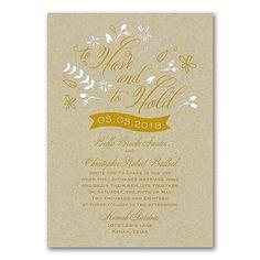 Tossing Petals Rustic Wedding Invitations Kraft http://partyblock.carlsoncraft.com/Wedding/Wedding-Invitations/3283-LL36032KRLZ-Tossing-Petals--Invitation--Kraft.pro