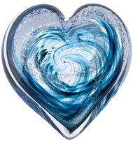 Twilight Teal Giant Heart by Celebration Ashes