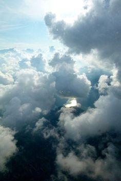Clouds & river