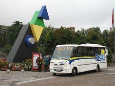 Un autocar Resalp au centre ville de #Oulx en Italie, lieu d'arrivée des TGV en provenance de Milan et Paris