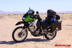 Kawasaki KLR 650: About 50 MPG. great scouting vehicle for your b.o.v. fleet.