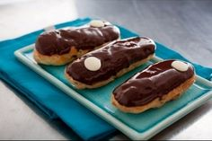 My Marine Hubby absolutely LOVES these little delicious bars of heaven.....eclaires.....yummy!