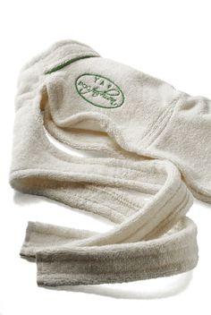 Dog Fashion LLC - 100% cotton dog bathrobe to help dry the dog after bath, $34.00 (http://www.dogfashionspa.com/dog-bathrobe-doggy-robe-bathtime/)