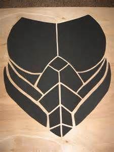 Craft foam chest armor