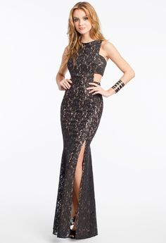 Sequin Lace Cutout S