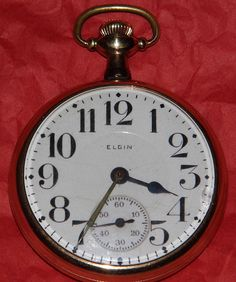 Vintage Elgin Goldtone Man's Pocket Watch