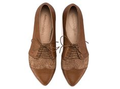 Polly Jean, coffee brown shoes, flat shoes, leather shoes