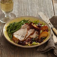 Pork Loin with Apple-Cranberry Chutney | MyRecipes.com #MyPlate #protein #fruit