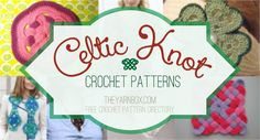 Celtic Knot Crochet Patterns ~ Several links to free patterns, from The Yarn Box (Woven Circles trivet, Celtic Knot square, Celtic Clover applique, Celtic Knot belt, Celtic hearts)   . . . .   ღTrish W ~ http://www.pinterest.com/trishw/  . . . .  #crochet #motif