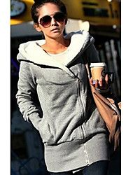 Women's Thicken Fleece Lined Hoodie Coat – USD $ 14.99