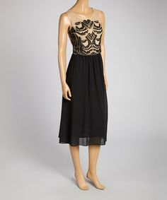 Another great find on #zulily! Natural & Black Sleeveless Maxi Dress by Carol Rose #zulilyfinds