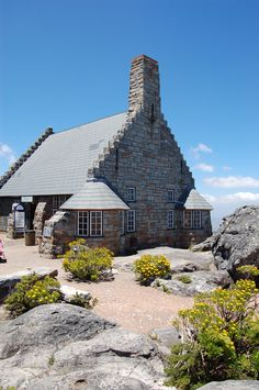 "cottage on top of Table Mountain, South Africa. It is actually a gift shop that looks a little like a cottage. There are also ""Rockbessies"" look a like some kind of e bever, without the tail. Places Around The World, Travel Around The World, Cape Town South Africa, Table Mountain, Places Of Interest, Africa Travel, Countries Of The World, Homeland, Places Ive Been"