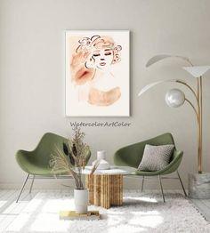 Vintage Wall Art, Vintage Walls, Watercolor Landscape, Watercolor Paintings, Gifts For An Artist, Watercolor Portraits, Handmade Art, Printable Wall Art, Fine Art Paper