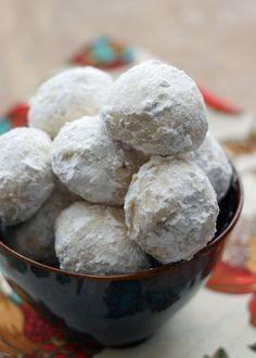 Mexican Wedding Cookies, Russian Tea Cakes, Sugar Butter Balls, Polvorones…