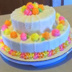 This is an easy to make cake! All you have to do is use your Wilton tips from cake decorating class one! Cake Decorating Classes, Wilton Cake Decorating, Decorating Ideas, Wilton Tips, Spring Cake, Wilton Cakes, Cake Boss, Fancy Cakes, Frosting