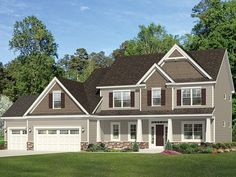 Traditional Home Plan with 2665 Square Feet and 4 Bedrooms from Dream Home Source | House Plan Code DHSW077521