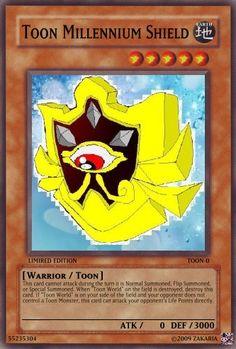 Toon Millennium Shield - Yu-Gi-Oh Card Maker Wiki - Cards, decks . Yu Gi Oh, Custom Yugioh Cards, Yugioh Collection, Warrior 1, Summoning, Card Maker, Name Cards, Manga, Phan