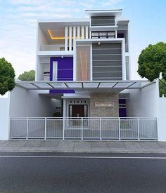 all idea inspiration design interior and exterior home modern decor Facade Design, Exterior Design, Architecture Design, Design Architect, Building Elevation, House Elevation, Modern Minimalist House, Modern House Design, Indian Homes