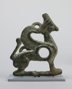 Iranian. Cheek piece in the form of a crouching sphinx, ca. 1000 – 750 B.C. Bronze.   © 2015 The Trustees of Princeton University