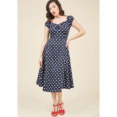 Got the Dots for You Midi Dress (€71) ❤ liked on Polyvore featuring dresses, apparel, fashion dress, varies, pink midi dress, calf length dresses, pink dot dress, sweet heart dress and dot dress