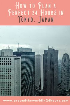 Are you looking to spend 24 hours in Tokyo, Japan? Come and enjoy the best Japanese food, views, and nightlife the city has to offer! Asia Travel, Japan Travel, Travel Usa, Travel Tips, Okinawa Japan, Tokyo Japan, Tokyo With Kids, Tokyo Hotels, Chicago Restaurants