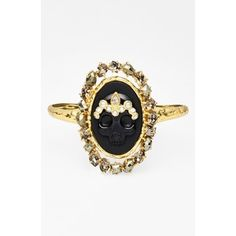 Women's Alexis Bittar 'Elements - Muse d'Or' Skull Cameo Cuff