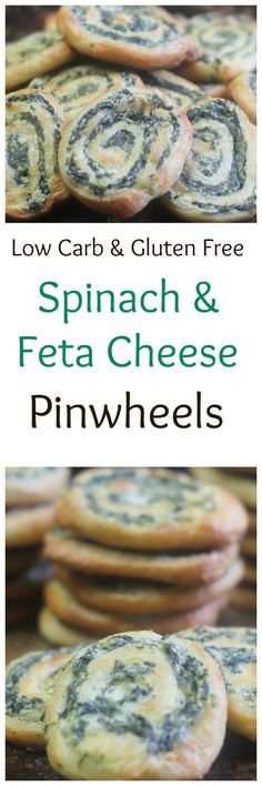 Spinach and Feta Pinwheels || Low Carb and Gluten Free Appetizers