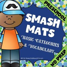 I'm excited to introduce Play Dough Smash Mats (English version) for speech therapy! I've organized this resource by Basic Categories. Yippee!PRODUCT CONTENTS:Full Color Smash Mats: (Ready to laminate!)1) Colors2) Shapes3) School Supplies4) Food5) Clothes6) Animals7) More Animals8) Letters and Numbers Want to print and go?Black and White Coloring Pages (NO PREP): 1) Colors2) Shapes3) School Supplies4) Food5) Clothes6) Animals7) More Animals8) Letters & Numbers Vocabulary List $3.50