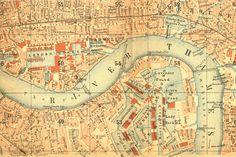 free vintage map of london printable