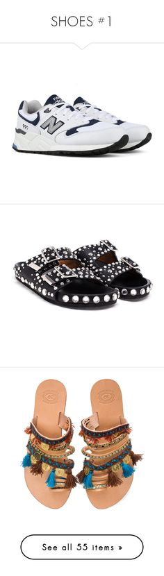 """""""SHOES #1"""" by liva-haarup ❤ liked on Polyvore featuring sko, shoes, sandals, flats, flat sandals, givenchy flats, flat shoes, studded flat shoes, flat footwear and flats sandals"""