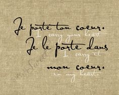 favorite poem. and in french? love.