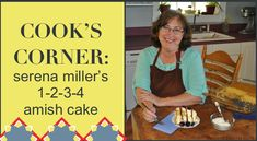 1-2-3-4 Amish Cake         Cook's Corner Archives - Amish Wisdom