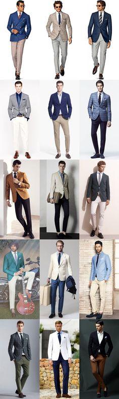 Men's Summer Weddings Smart-Casual Separates Outfit Inspiration Lookbook #MenSummerFashion #MensFashionWork #MensFashionBlazer