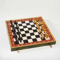 Painted Elephant Wood Chess Set $24.99