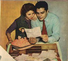 Omar Sharif & his wife actress Faten Hamama #worldCinema
