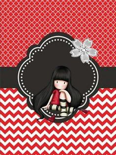 Santoro London, Unique Wallpaper, Aesthetic Drawing, Holly Hobbie, Creative Pictures, Stencil Painting, Little Doll, Cartoon Pics, Penny Black