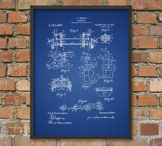 Locomotive Patent Wall Art Poster by QuantumPrints on Etsy