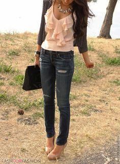 fashforfashion -♛ STYLE INSPIRATIONS♛ ~romantic blouse
