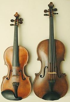 10 worst things about being a viola player Violin (on the right) Viola (on the left) These look like mine. except the chin rest on the viola.Violin (on the right) Viola (on the left) These look like mine. except the chin rest on the viola. Piano, Viola Instrument, Pink Violin, Violin Family, Mundo Musical, Violin Lessons, Music Lessons, The Infernal Devices, Sound Of Music