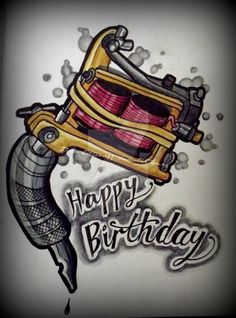 Happy birthday tattoo image