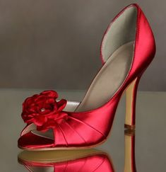 Wedding Shoes Red Bridal Wedding Shoes Flowers High Heel