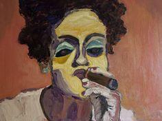 Smokey Eyes - oil 80x60 cms by Vodegel#oil #canvas #art #paintings #buy