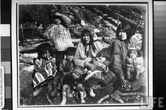 Native American women & children on the Kotsina. Date taken:1902 Photographer:Miles Brothers